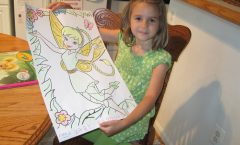 Coloring Tinkerbell