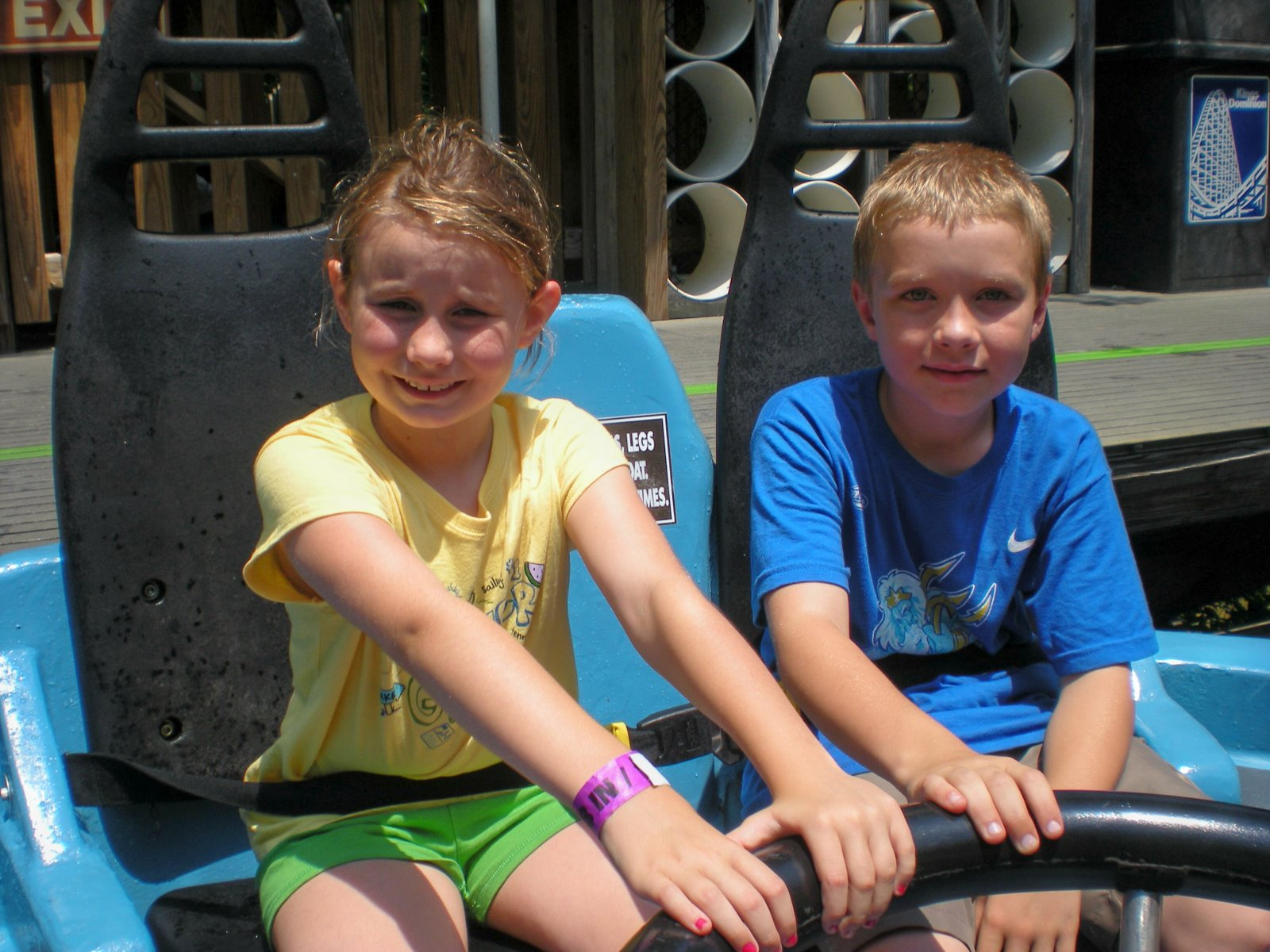 Honora and Davis on water ride