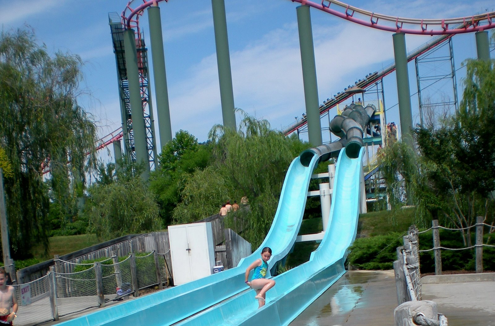 Honora on water slide